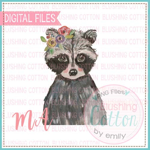 RACCOON WITH FLOWER CROWN BCMA