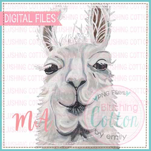 LLAMA WATERCOLOR DESIGN BCMA