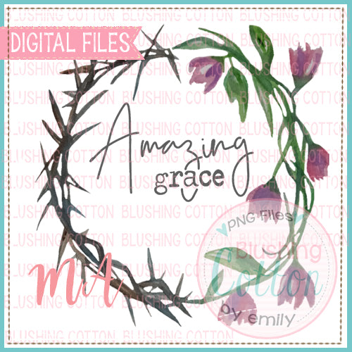 AMAZING GRACE CROWN OF THORNS WATERCOLOR DESIGN BCMA