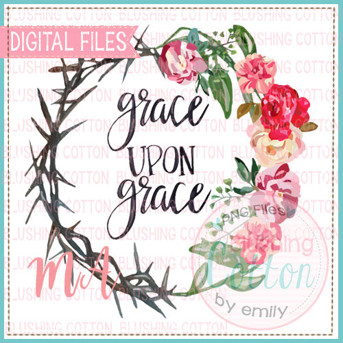 GRACE UPON GRACE WITH CROWN OF THORNS WATERCOLOR DESIGN BCMA