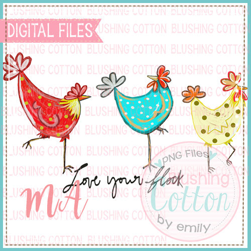LOVE YOUR FLOCK WATERCOLOR DESIGN BCMA