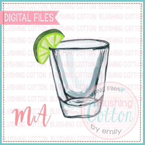 SINGLE SHOT GLASSES WITH LIME WATERCOLOR DESIGN BCMA
