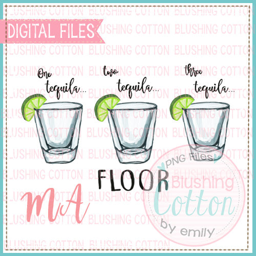 FLOOR WITH SHOT GLASSES WATERCOLOR DESIGN BCMA