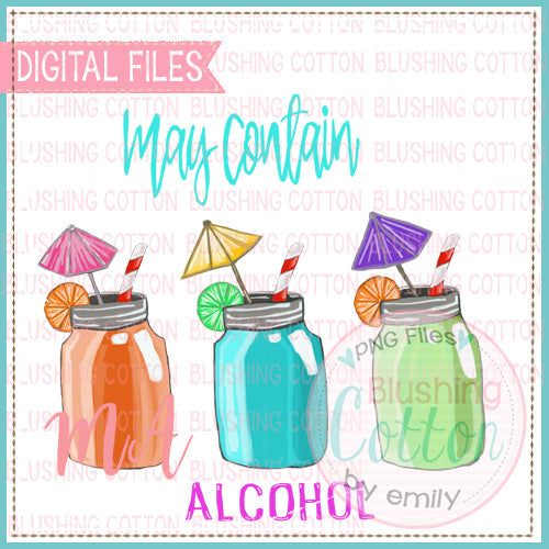 DRINK TRIO MAY CONTAIN ALCOHOL  WATERCOLOR DESIGN BCMA