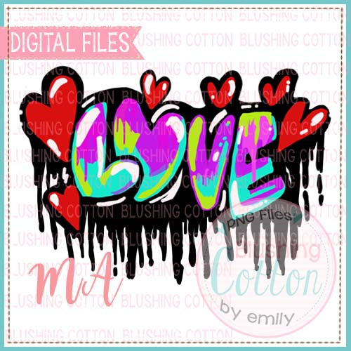 GRAFFITI LOVE WATERCOLOR DESIGN BCRM