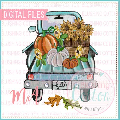 FALL TRUCK WATERCOLOR DESIGN BCMA