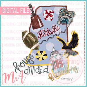 HOUSE DIVIDED MISSISSIPPI WATERCOLOR DESIGN BCMA