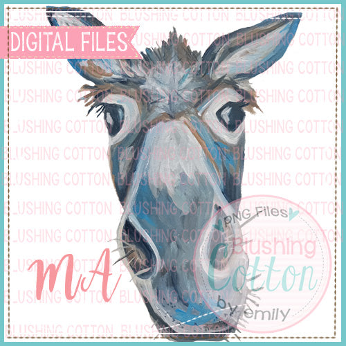 DONKEY WATERCOLOR DESIGN BCMA