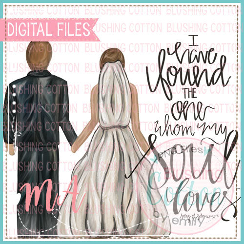 TRADITIONAL COUPLE WITH I HAVE FOUND THE ONE WEDDING DESIGN   BCMA
