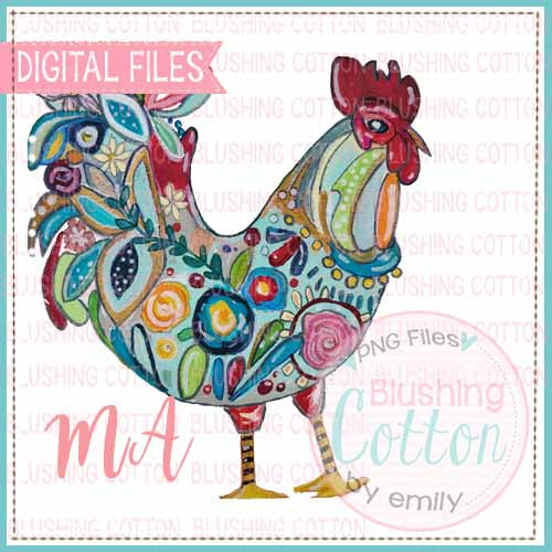 CRAZY CHICKEN WATERCOLOR DESIGN BCMA