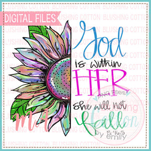 GOD IS WITHIN HER DESIGN   BCMA