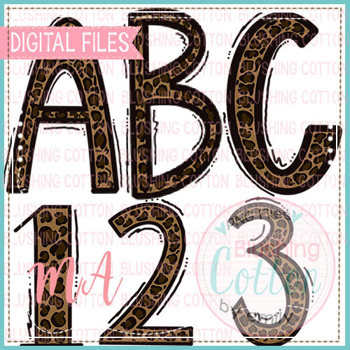 LEOPARD PRINT ALPHA AND NUMBERS BUNDLE   BCMA