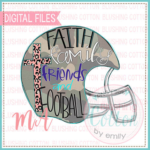 CAMO FAITH AND FOOTBALL DESIGN   BCMA