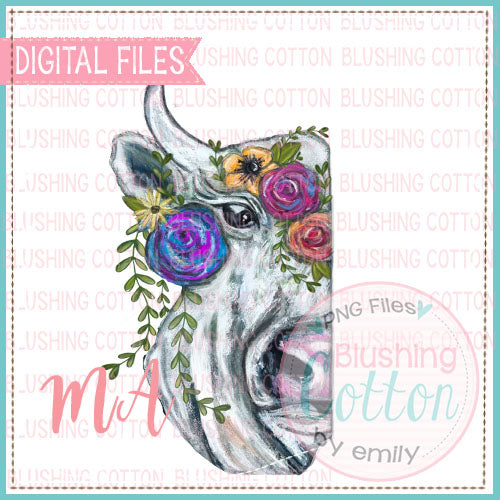 HALF COW WITH FLOWERS DESIGN   BCMA