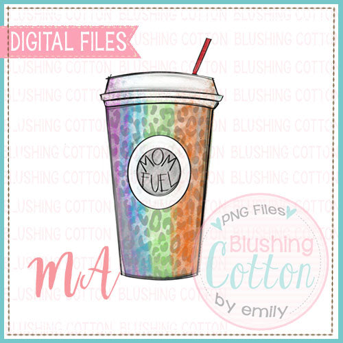Mom Fuel Colorful Coffee Cup Design   BCMA