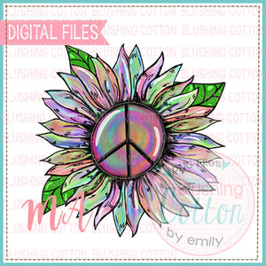 MULTI COLORED FLOWER WITH PEACE SIGN DESIGN  BCMA