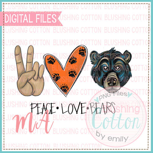 PEACE LOVE BEARS DESIGN   BCMA
