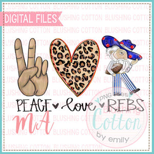 PEACE LOVE REBS DESIGN   BCMA