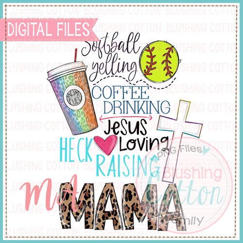 Softball Yelling Mom Design   BCMA