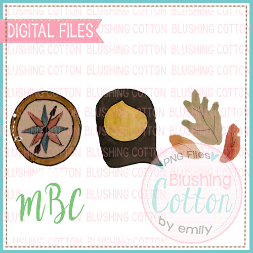 COMPASS LEAF STORY TRIO WATERCOLOR DESIGN BCMBC