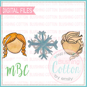 SNOWY STORY TRIO WATERCOLOR DESIGN BCMBC