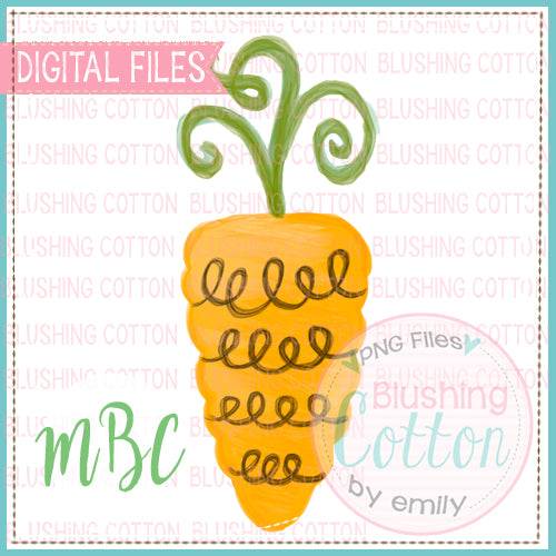 SWIRLY CURLY CARROT WATERCOLOR DESIGN BCMBC