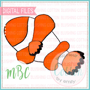 CLOWN FISH WATERCOLOR DESIGN BCMBC