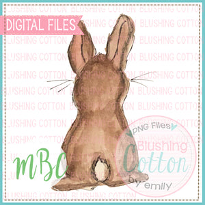 BROWN LITTLE BUNNY WATERCOLOR DESIGN BCMBC