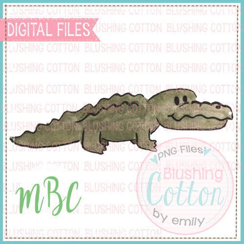 ALLIGATOR WATERCOLOR DESIGN BCMC