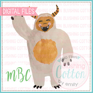 HAPPY MONSTER WATERCOLOR DESIGN BCMBC