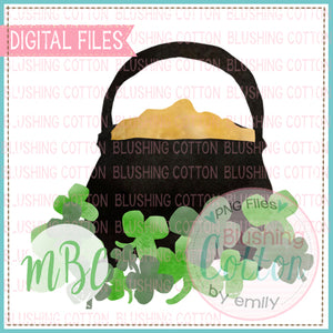 POT OF GOLD WATERCOLOR DESIGN BCMBC