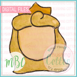 GIRL BLONDE HAIR WITH CROWN WATERCOLOR DESIGN BCMBC