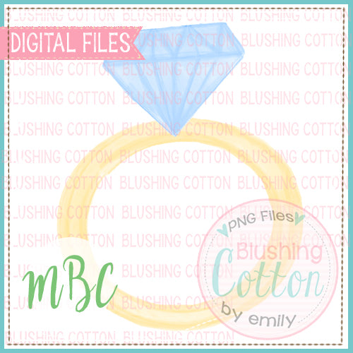 DIAMOND RING WATERCOLOR DESIGN BCMBC