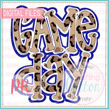 GAME DAY BLUE ART WATERCOLOR DESIGN  BCPR