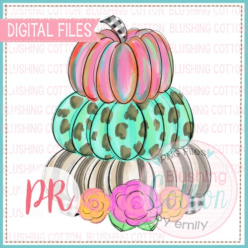 3 STACK PUMPKINS WATERCOLOR DESIGN BCPR