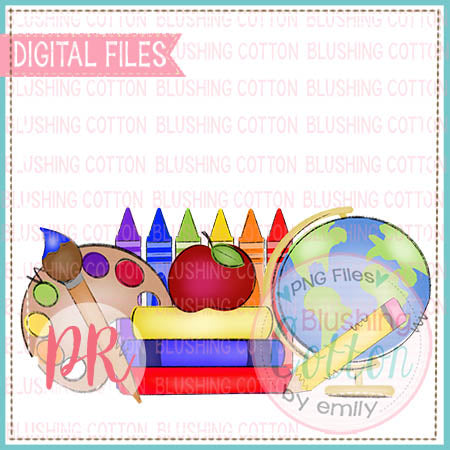 SCHOOL SWAG PRIMARY COLORS   WATERCOLOR DESIGN BCPR