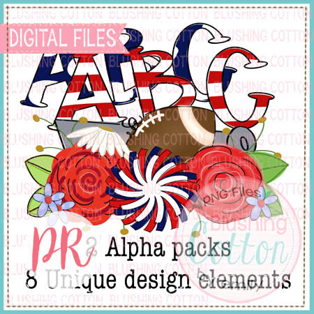 NAVY AND RED WITH SPORTS COLLAGE MAKE YOUR OWN BUNDLE WATERCOLOR DESIGN  BCPR