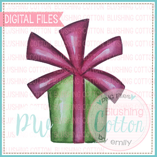 CHRISTMAS GIFT 1 DESIGN WATERCOLOR PNG BCPW