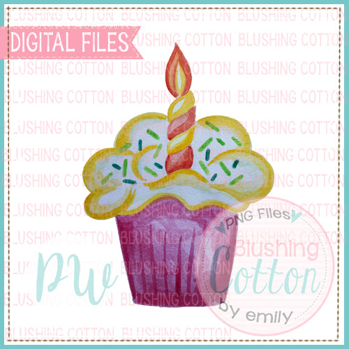 CUPCAKE DESIGN WATERCOLOR PNG BCPW