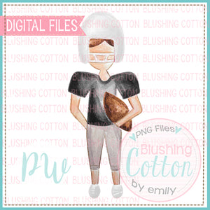 FOOTBALL PLAYER BLACK AND WHITE UNIFORM DESIGN WATERCOLOR PNG BCPW