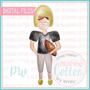 FOOTBALL PLAYER BLACK AND GOLD DESIGN WATERCOLOR PNG BCPW