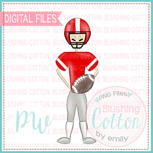 FOOTBALL PLAYER RED AND WHITE    BCPW