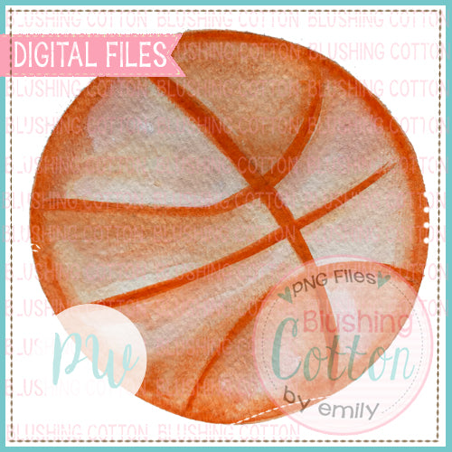 BASKETBALL DESIGN WATERCOLOR PNG BCPW FOR PRINTING AND CRAFTS