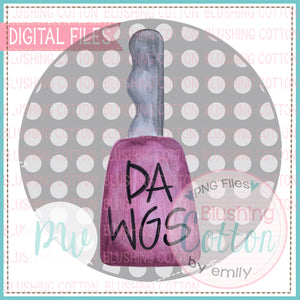 DAWG COWBELL IN GREY (GRAY) DOT CIRCLE - BCPW WATERCOLOR PNG