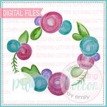 Load image into Gallery viewer, FlORAL WREATH1 - BCPW WATERCOLOR PNG