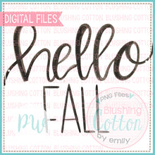 Load image into Gallery viewer, HELLO FALL (BLACK ONLY) WATERCOLOR ART PNG