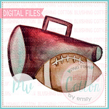 Load image into Gallery viewer, MAROON MEGAPHONE AND FOOTBALL - BCPW