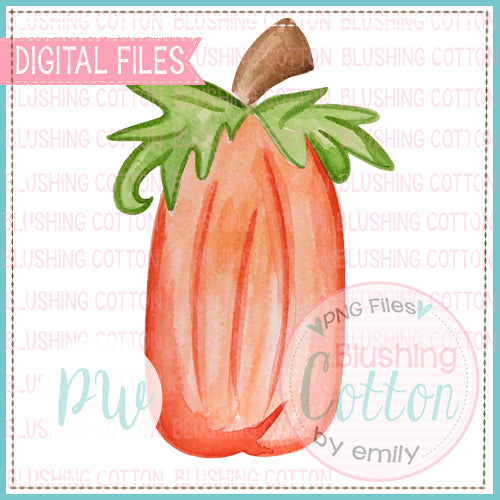 PERFECT TALL PUMPKIN WATERCOLOR ART PNG
