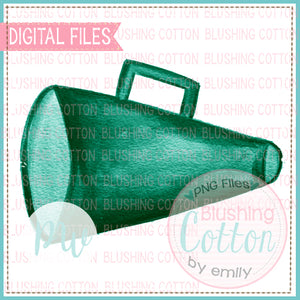 MEGAPHONE GREEN DESIGN WATERCOLOR PNG BCPW
