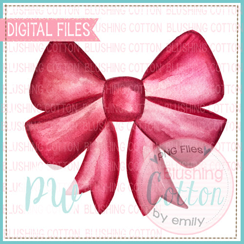 RED BOW DESIGN WATERCOLOR PNG BCPW